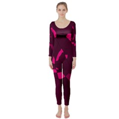Abstract design Long Sleeve Catsuit