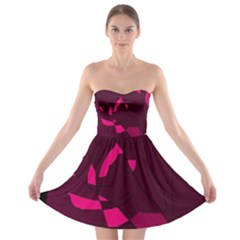 Abstract design Strapless Dresses