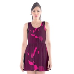 Abstract design Scoop Neck Skater Dress
