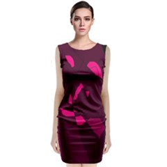 Abstract Design Classic Sleeveless Midi Dress