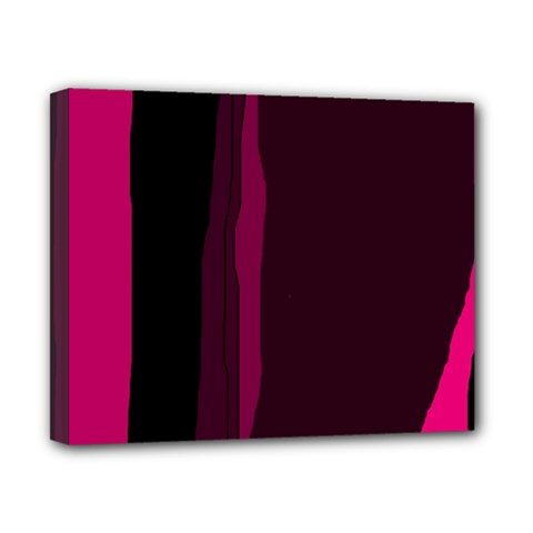 Pink and black lines Canvas 10  x 8