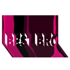 Pink and black lines BEST BRO 3D Greeting Card (8x4)