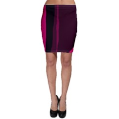 Pink and black lines Bodycon Skirt