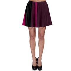 Pink and black lines Skater Skirt