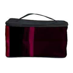Pink and black lines Cosmetic Storage Case