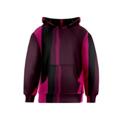 Pink and black lines Kids  Pullover Hoodie
