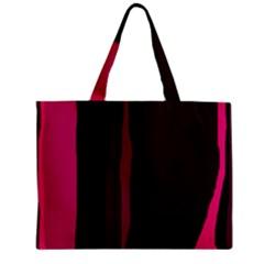 Pink and black lines Zipper Mini Tote Bag