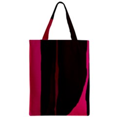 Pink and black lines Zipper Classic Tote Bag