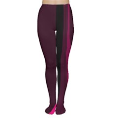 Pink And Black Lines Women s Tights