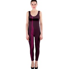 Pink and black lines OnePiece Catsuit