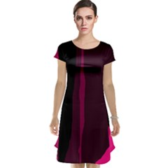 Pink and black lines Cap Sleeve Nightdress