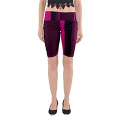 Pink and black lines Yoga Cropped Leggings