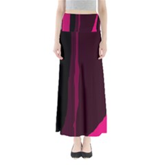 Pink and black lines Maxi Skirts