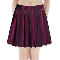 Pink and black lines Pleated Mini Mesh Skirt