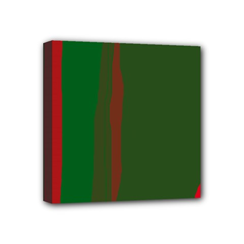 Green and red lines Mini Canvas 4  x 4