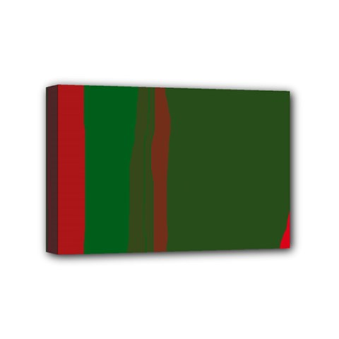 Green and red lines Mini Canvas 6  x 4