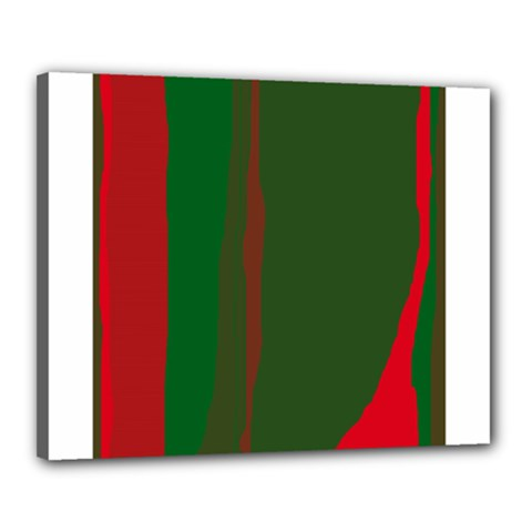Green and red lines Canvas 20  x 16