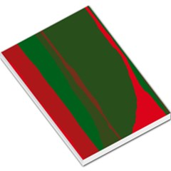 Green and red lines Large Memo Pads