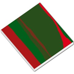 Green and red lines Small Memo Pads