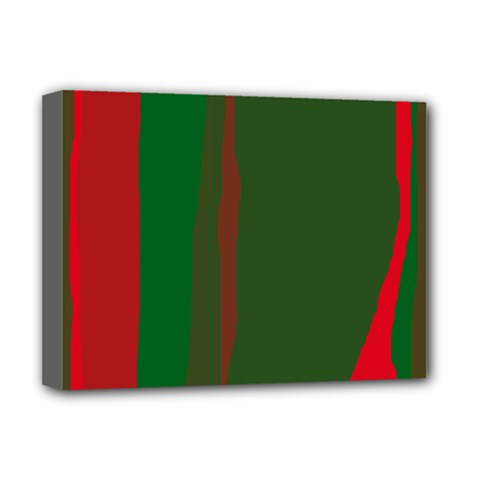 Green and red lines Deluxe Canvas 16  x 12