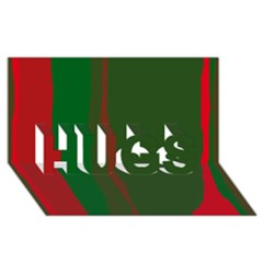 Green and red lines HUGS 3D Greeting Card (8x4)