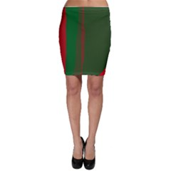 Green and red lines Bodycon Skirt