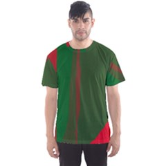 Green and red lines Men s Sport Mesh Tee