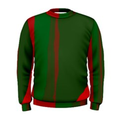 Green and red lines Men s Sweatshirt