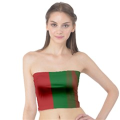 Green and red lines Tube Top