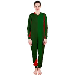 Green and red lines OnePiece Jumpsuit (Ladies)