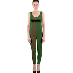Green and red lines OnePiece Catsuit