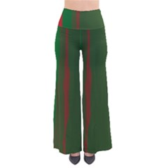 Green and red lines Pants