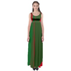 Green and red lines Empire Waist Maxi Dress