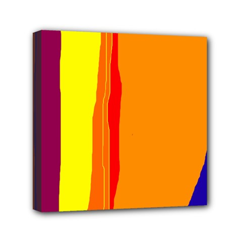 Hot colorful lines Mini Canvas 6  x 6