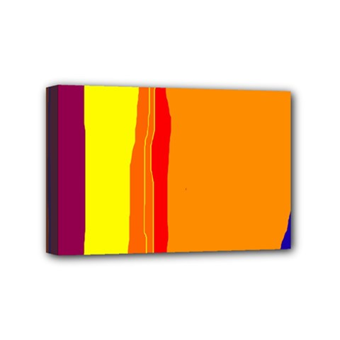 Hot colorful lines Mini Canvas 6  x 4