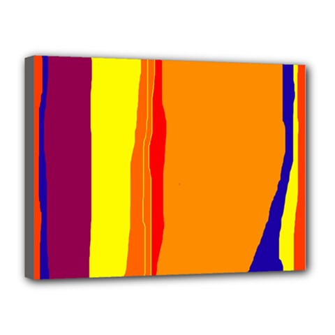 Hot colorful lines Canvas 16  x 12