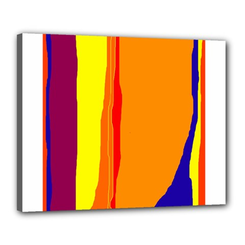 Hot colorful lines Canvas 20  x 16