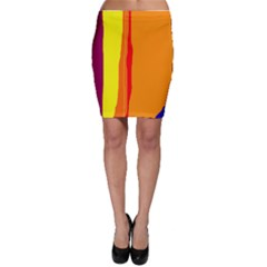Hot colorful lines Bodycon Skirt