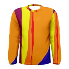 Hot colorful lines Men s Long Sleeve Tee