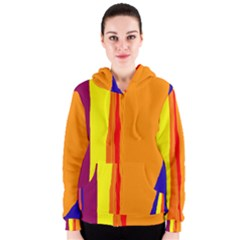 Hot colorful lines Women s Zipper Hoodie