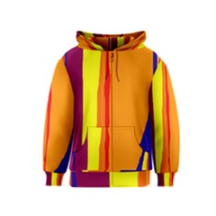 Hot colorful lines Kids  Zipper Hoodie