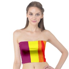 Hot colorful lines Tube Top