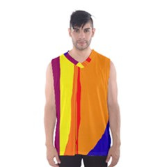 Hot colorful lines Men s Basketball Tank Top
