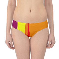 Hot colorful lines Hipster Bikini Bottoms