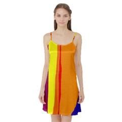 Hot colorful lines Satin Night Slip
