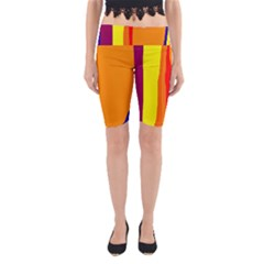 Hot colorful lines Yoga Cropped Leggings