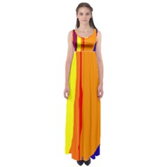 Hot colorful lines Empire Waist Maxi Dress