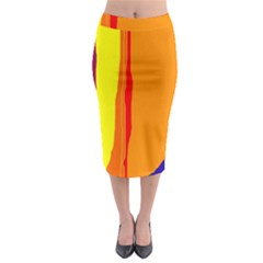 Hot colorful lines Midi Pencil Skirt