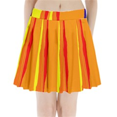 Hot Colorful Lines Pleated Mini Mesh Skirt