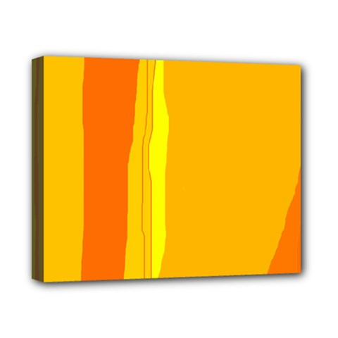 Yellow and orange lines Canvas 10  x 8